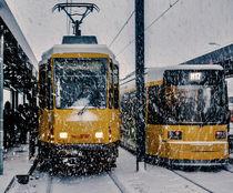 Tram im Schnee by Karsten Houben