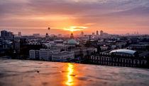 Berlin Panorama, Sonnenuntergang by Karsten Houben