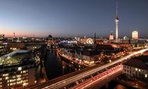 Berlin Panorama bei Nacht by Karsten Houben