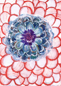 Centered Blue Blossom   by Heidi  Capitaine