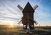 Untergehende Sonne an der Windmühle by micha-trillhaase-fotografie