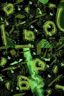 Frühling - Abstraktes  in grün   by Chris Berger