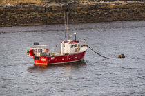 Fishing boat anchored in Loch Beag just off Struan Jetty, Isle of Skye von Bruce Parker