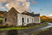 Abandoned farmhouse ruins by Struan Jetty, Isle of Skye, Scotland by Bruce Parker