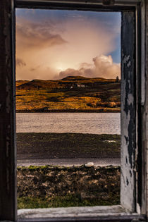View through window of abandoned farmhouse ruins by Struan Jetty by Bruce Parker