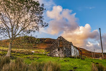 Abandoned farmhouse ruins by Struan Jetty, Isle of Skye, Scotland von Bruce Parker