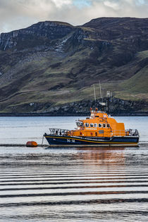 Portree lifeboat, RNLB Stanley Watson Barker, anchored in Portree Harbour by Bruce Parker