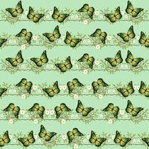 Green butterflies pattern by Gaspar Avila