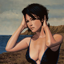 Monica Bellucci Painting 2 von Paul Meijering