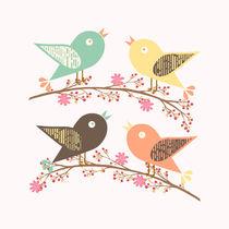Four birds von Gaspar Avila