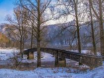 Alte Brücke im Winter by Christine Horn
