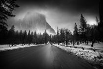 Yosemite Black and White by louloua-asgaraly