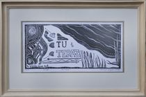 Tu i Teraz - Uljado - with wood frame by uljado