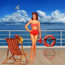 Schönheit aus der 50er Jahren im Bikini - Beauty from the 50s in bikini  von Monika Juengling