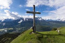 Hoher Ziegspitz Gipfelkreuz by Rolf Meier