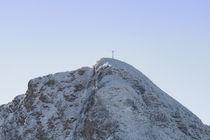 Rotwand Gipfel im Schnee von Rolf Meier