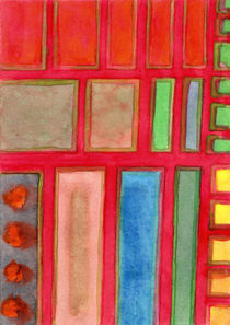 Some Chosen Rectangles orderly on Red  by Heidi  Capitaine