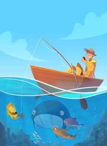 Gone Fishing von Anneliese Mak