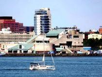 Philadelphia PA - Sailboat by Penn's Landing by Susan Savad