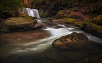 Waterfall on The Upper Clydach River by Leighton Collins