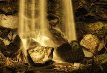 Melincourt waterfalls at Resolven south Wales by Leighton Collins