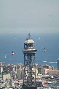 Port cable car Barcelona by stephiii