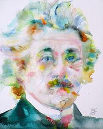 ALBERT EINSTEIN - watercolor portrait von lautir