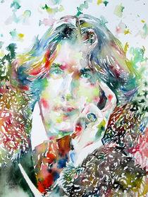OSCAR WILDE - watercolor portrait by lautir