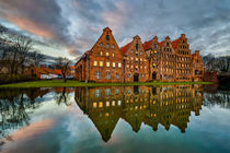 Old town of Lubeck von Michael Abid