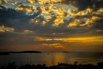 Sunset over the Adriatic by Colin Metcalf