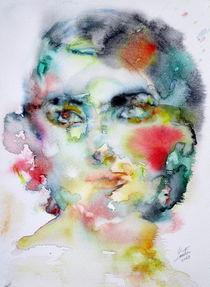 MARIA CALLAS - watercolor portrait by lautir