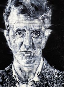 LUDWIG WITTGENSTEIN - acrylic portrait by lautir