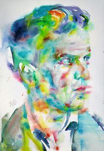 LUDWIG WITTGENSTEIN - watercolor portrait von lautir