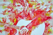 KURT COBAIN - watercolor portrait von lautir