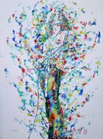 ROBERT PLANT - watercolor portrait von lautir