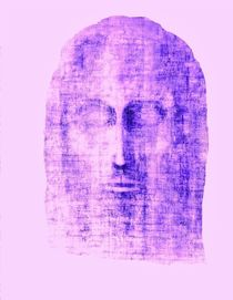 Maroon image of Face of Christ von jonathan-byrne