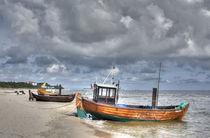 Fischkutter am Strand , Ahlbeck, Insel Usedom von Torsten Krüger