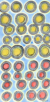 Yellow and Red Sunshine Pattern  von Heidi  Capitaine
