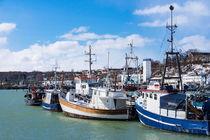 Der Fischereihafen in Saßnitz auf der Insel Rügen von Rico Ködder