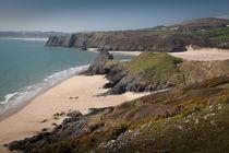 Pobbles Bay and Three Cliffs von Leighton Collins