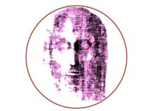 Image of the Face of Christ, Design Variation in Purple von jonathan-byrne