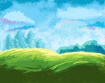Pastel landscape by Dorina Boneva