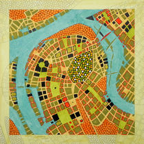 imaginary map of Koblenz by federico cortese