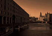 Albert Dock And the Pier Head von John Wain