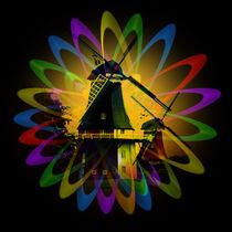 Windmühlen Abstrakt von Walter Zettl