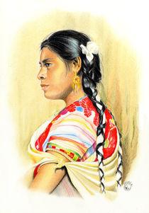 Maya woman from Chiapas, Mexico von Colette van der Wal