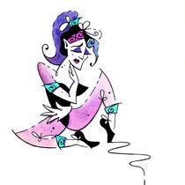 Woman Falling in Love - Book Illustration von nacasona