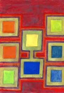 Colorful Screens on the Shelf  by Heidi  Capitaine