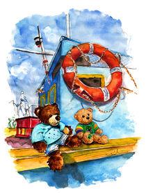 Teddies Truffle McFurry And Galway In Marsaxlokk by Miki de Goodaboom