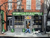 WALKING THE DOG - East Village, Manhattan, New York by Colette van der Wal